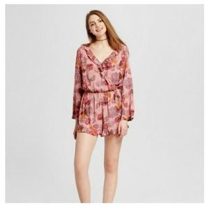 5/$25 Mossimo Floral Long Sleeve Romper